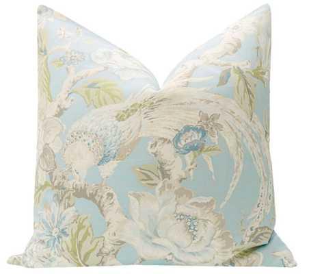 "Floral Aviary Print // Hydrangea Blue - 20"" X 20"" - Little Design Company"