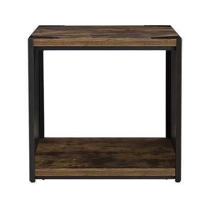 Comet Steel Plate and Wood End Table - Wayfair