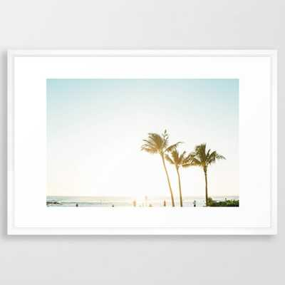 Poipu Beach Framed Art Print - Society6