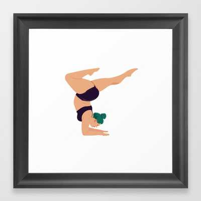 Yoga - Strike a pose Framed Art Print - Society6