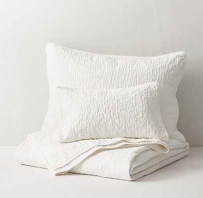 Washed Cotton-Silk Quilt-Ivory-Full - RH Teen