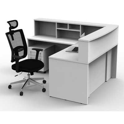 Gillard L-Shape Reception Desk - Wayfair