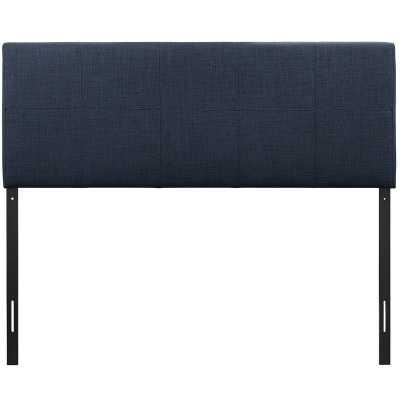 Joey Queen Upholstered Panel Headboard - Navy - Wayfair