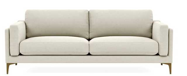 "GABY 2-Seat Sofa-80""- Chalk - brass legs - Interior Define"