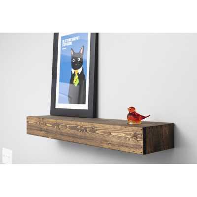 Montserrat Floating Shelf Solid Wood Handmade Rustic Style Wall Shelf - Wayfair