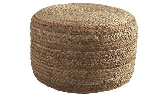 braided jute pouf - CB2