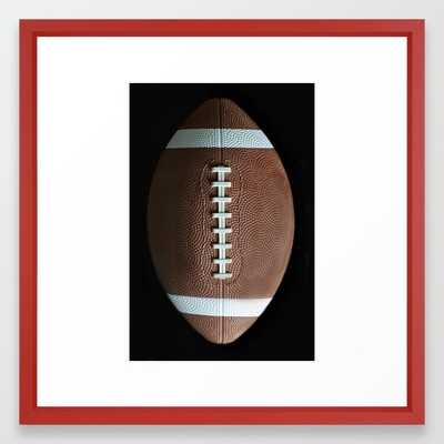 American Football Framed Art Print - Vector black - 12x12 - Society6