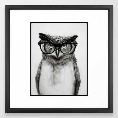 Mr. Owl Framed Art Print - Society6