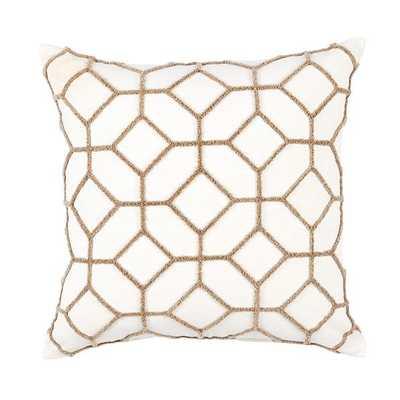Inman Textured Trellis Pillow - Ballard Designs