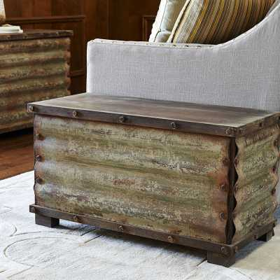 Carbondale Corrugated Coffee Table Trunk - Wayfair