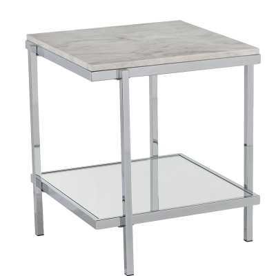 Skipton Faux Marble End Table - Wayfair