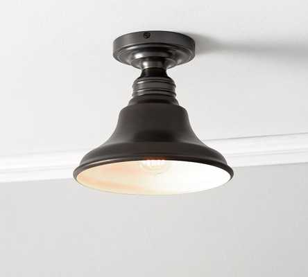 PB Classic Curved Metal Bell with Bronze Romantic Flushmount Kit - Pottery Barn