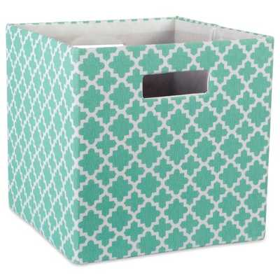 Cube Lattice Square Fabric Polyester Bin, 13x13 - Wayfair