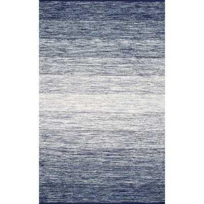 AlgediHandwoven Flatweave Cotton Blue/Green/White Area Rug - AllModern