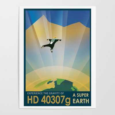 NASA Retro Space Travel Poster #6 Poster - Society6