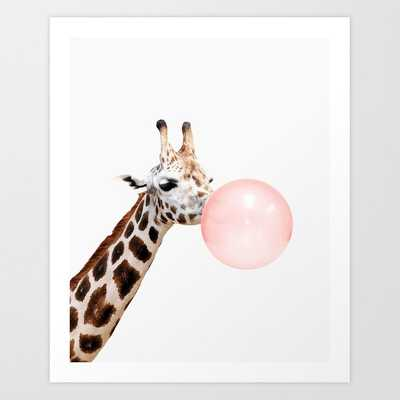 Giraffe, Bubble gum, Pink, Animal, Nursery, Minimal, Trendy decor, Interior - Society6