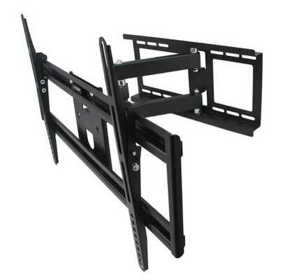 32 in. to 70 in. Full Motion Television Wall Mount in Black - Home Depot