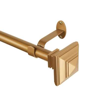"Brenton Single Curtain Rod in Soft Gold - 86""-120"" - Wayfair"