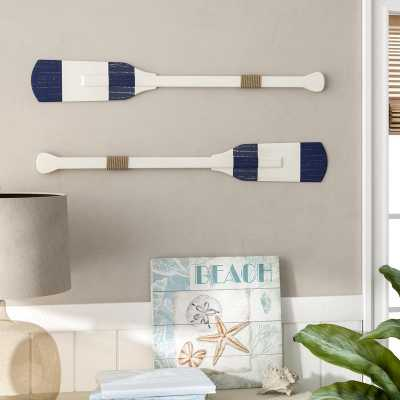 Rustic Rowing Oar Wall Decor - Wayfair