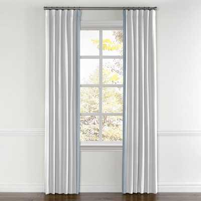 White Linen Drapes with Dusk color trim - 60¨wide x 96¨long - Loom Decor
