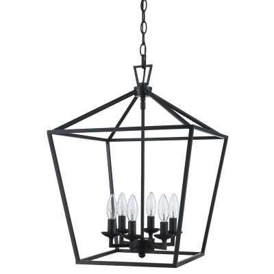 Carmen 6 - Light Lantern Geometric Chandelier - Wayfair