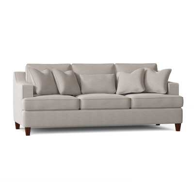 "Kaila 91"" Recessed Arm Sofa, Sunbrella Cast Silver - Wayfair"
