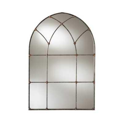 Baxton Studio Tova Arched Window Wall Mirror - 31.89W x 47.05H in. - Hayneedle