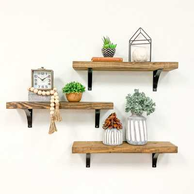 Devyn 3 Piece Bracket Shelf - Wayfair
