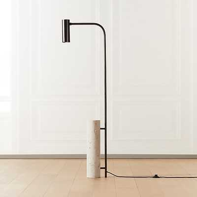 MAESTRO TRAVERTINE FLOOR LAMP - CB2