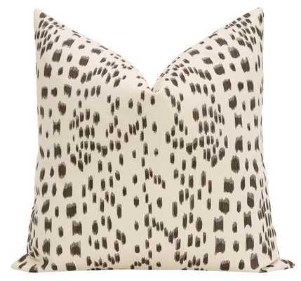 """Les Touches Black Pillow Cover - 20"""" x 20"""" - Little Design Company"""