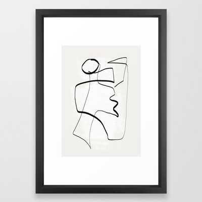 Abstract line art 6 Framed Art Print - Society6