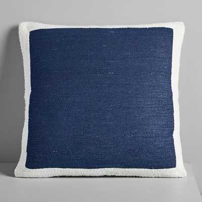 """Textured Border Pillow Cover, Platinum , 20""""X20"""" - Wayfair"""