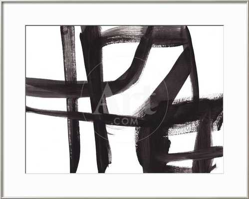 Black and White Abstract Painting 2 - art.com