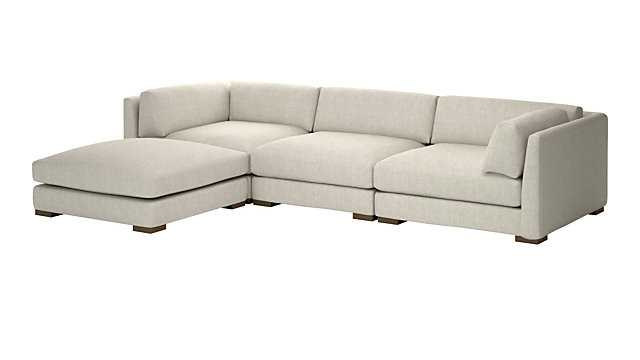 PIAZZA 4-PIECE MODULAR SECTIONAL SOFA - CB2