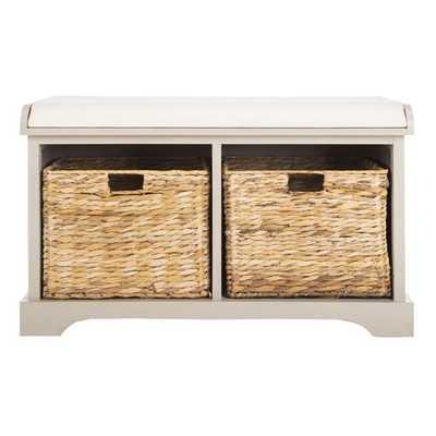Alonza Pine Wood Storage Bench - Birch Lane