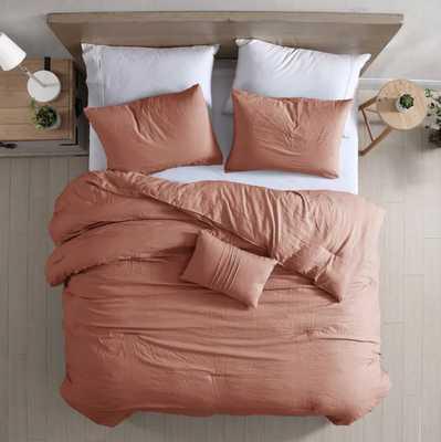 Modern Threads 4-Piece Garment-Washed Comforter Set Beck - Dark Rose - Wayfair