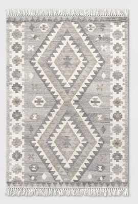 Sedwick Tribal Medallion Hand Tufted Wool Rug Cream - Threshold™ - Target