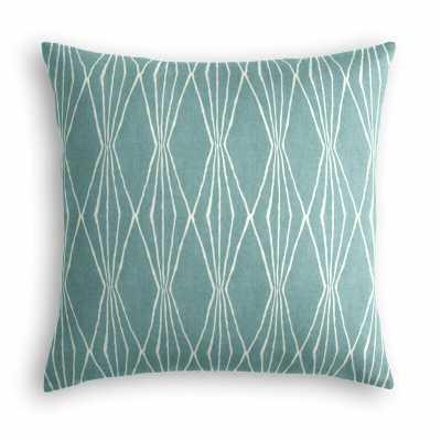 "Diamond Cotton Throw Pillow, Aqua, 18""x18"" - Loom Decor"
