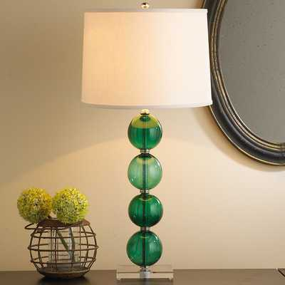 RECYCLED GLASS BALL TABLE LAMP - Shades of Light