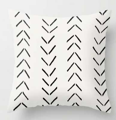 white arrow mudcloth chevron - Society6