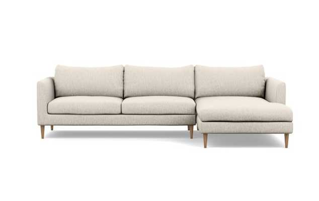 "Owens Custom Sectional - 106"" / Wheat / Round Tapered Leg - Interior Define"