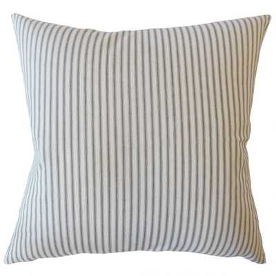 "Fabius Striped Pillow Navy, 22"", Poly Insert - Linen & Seam"
