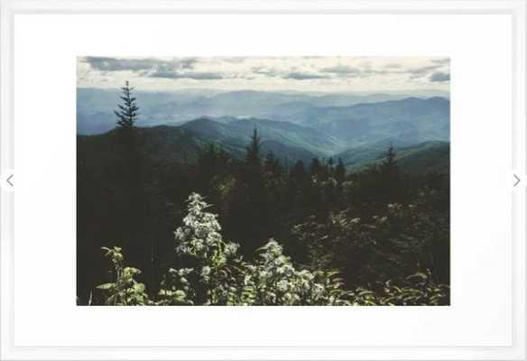 Smoky Mountains - Nature Photography Framed Art Print, 26x38 - Society6