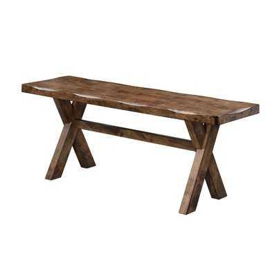 Orland Wood Bench - Wayfair