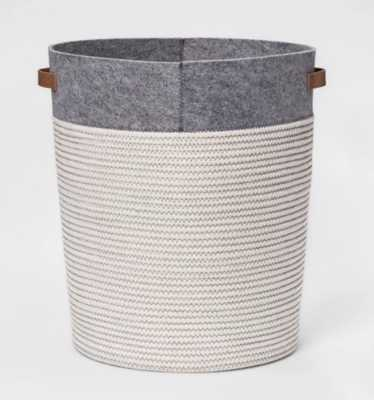 Large Coiled Rope Round Floor Storage Bin Gray - Pillowfort™ - Target