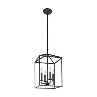 Odie 4-Light Lantern Square / Rectangle Pendant - Wayfair