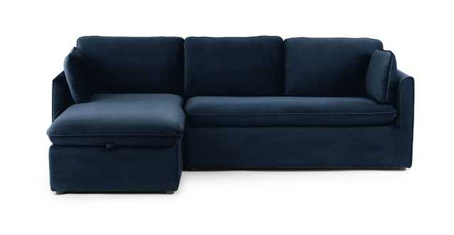 Oneira Tidal Blue Left Sofa Bed - Article