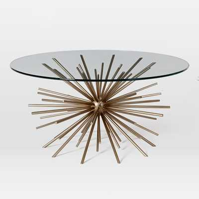 Starburst Coffee Table, Blackened Brass/Glass - West Elm