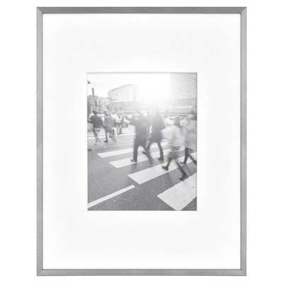 """14""""X18"""" Matted For 8""""X10"""" Photo Thin Gallery Frame Silver - Project 62™ - Target"""