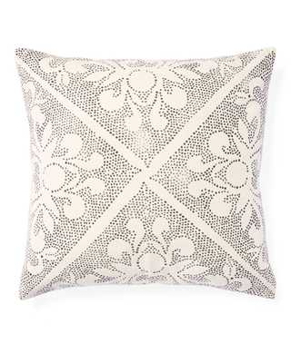 "Camille Scroll 24""SQ. Pillow Cover - Ivory - Insert sold separately - Serena and Lily"